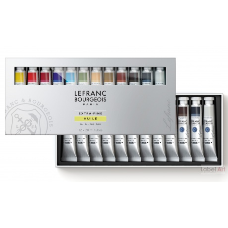 Assortiment d'huile extra-fine Lefranc Bourgeois 12x20ml