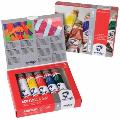 Set decouverte 5 tubes acrylique 40ml Van Gogh