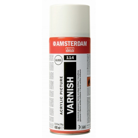 vernis huile et acrylique brillant amsterdam spray 400ml label art. Black Bedroom Furniture Sets. Home Design Ideas